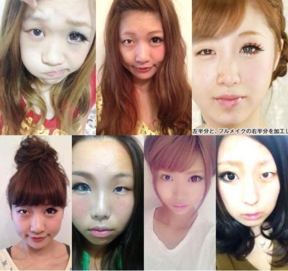 女が顔半分だけ化粧した画像wwwwwwwwwwww