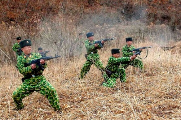 【画像】北朝鮮軍の迷彩服が酷いwwwwwwwwwwwwww