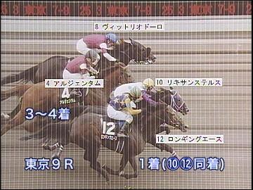 【競馬】 東京9Rの写真判定(同着)について…