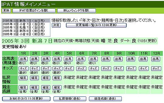 【競馬】 IPATの情報メニューが超絶改悪!! 【画像あり】