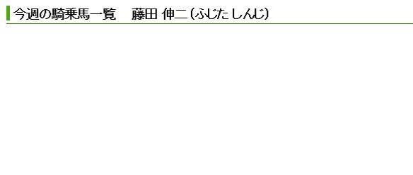 【競馬】 藤田伸二騎手、土日騎乗数ゼロ