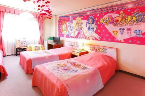 【画像】とあるホテルのプリキュア部屋が完全にラブホwwwwwwwwwwww