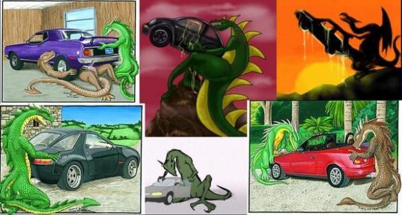 【マジキチ】アメリカのオタク、規制されすぎで「自動車を犯すドラゴン」で抜くようになるwwwwwww(画像あり)