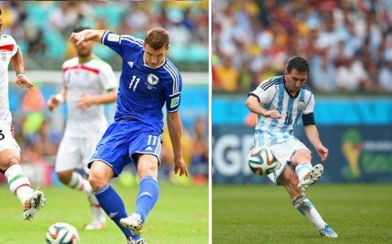 【W杯F組】アルゼンチン対ナイジェリア、ボスニア対イラン(動画)