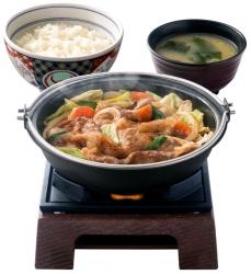 吉野家にコンロ使った新メニュー「牛バラ野菜焼き定食」