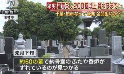 「墓まで掘り起こすなよ」 千葉県柏市の「法林寺」で墓荒らし … 周辺の3カ所の霊園、約180の墓でも同様の被害に