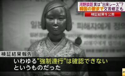 """韓国政府、河野談話の検証結果について「国際社会容認しない」「深い遺憾」表明 … """"慰安婦の新証拠""""については「被害者の生々しい証言こそ、強制性を証明する明確な証拠だ」"""