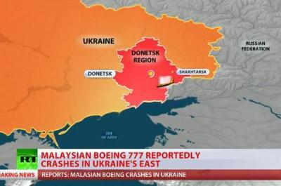 マレーシア航空のボーイング777型機、ウクライナ東部・高度1万メートルを飛行中に、地対空ミサイルにより撃墜か … 乗客・乗員295人の安否は絶望