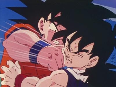 【驚愕】悟飯がセルに顔面を殴られまくってる時の悟空の表情wwwwwwwwwwww