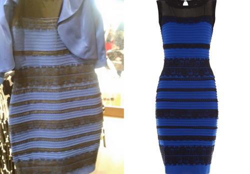 このドレスの色は『白と金』?、それとも『青と黒』? … 脳の光源処理の錯覚で別の色に見える「青と黒のドレス画像」が話題に (画像)