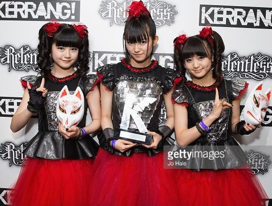 BABYMETAL、音楽誌「KERRANG!」主催のアワード「KERRANG! AWARDS 2015」にて日本人初となるTHE SPIRIT OF INDEPENDENCE AWARD受賞