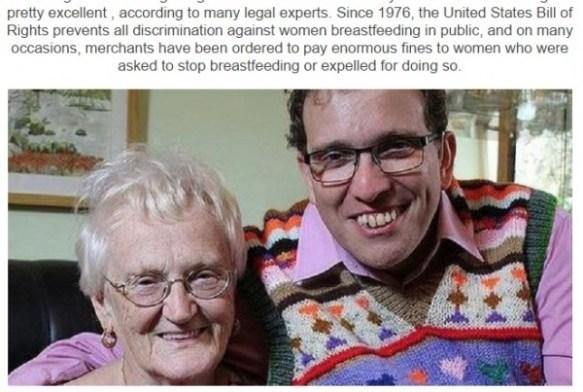 【マジキチ】KFCで76歳の母親が42歳の息子に乳をやり追い出されるwwwwwwwwwwwwwww