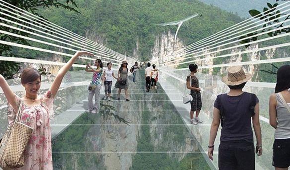【画像あり】中国でガラスの橋が完成wwwwwwwwwwwww 怖すぎて渡れねえよwwwwwwwwwwww