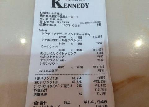 とある男性の客、中目黒のステーキ店「ケネディ」でのボッタクリ被害を暴露、ツイッターで店員の動画を晒す → 店側は否定、全面対決へ