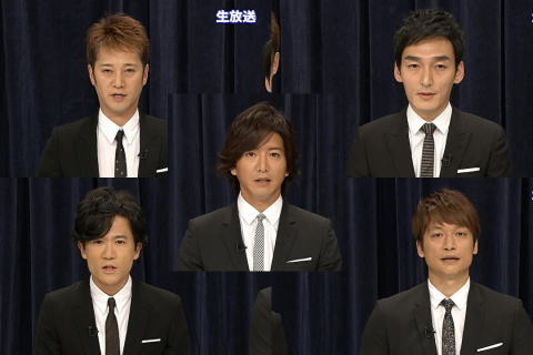 SMAPのメンバー五人、生放送に出演しグループとしての活動を続ける意向を示す(動画) … 「解散しなくてよかった」「存続なのかどっちか分からなかった」 ネット上にさまざまな反応