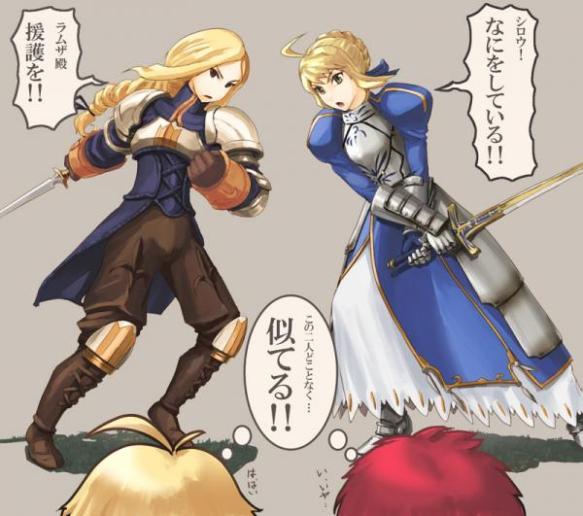 【悲報】Fate厨、FFTの開発者Twitterに「アグリアスはセイバーの影響受けてますよね?」と突撃する