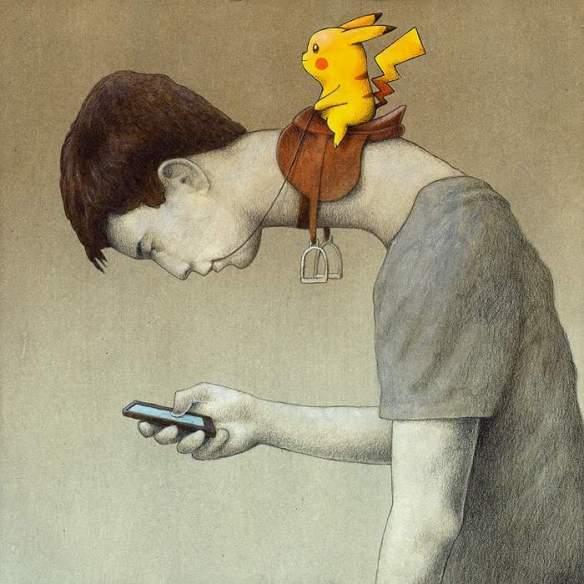 【画像】皮肉の効いた『ポケモンGO』の風刺画が世界中で話題に