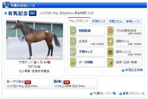 【有馬記念】 リアファル、netkeiba予想オッズで1番人気wwwwwww