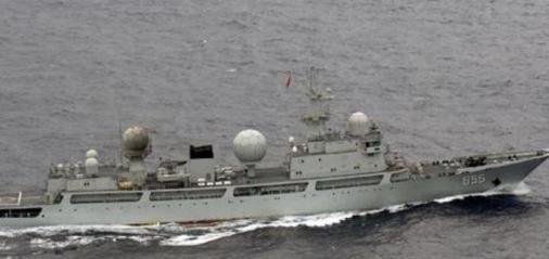 鹿児島県・口永良部島周辺海域の日本領海に中国海軍艦艇が侵入 … ドンディアオ級情報収集艦1隻、口永良部島西方の領海を南東に進むのを海上自衛隊のP3C哨戒機が確認