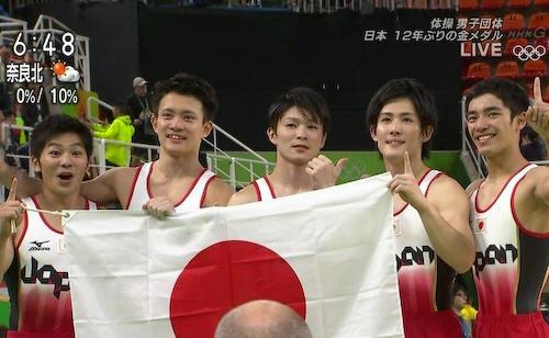 体操 男子団体 日本逆転で金メダル獲得!