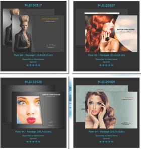 Prospectus / flyers / tract pour un «salon de coiffure» ?