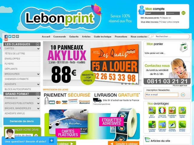 Site Lebonprint