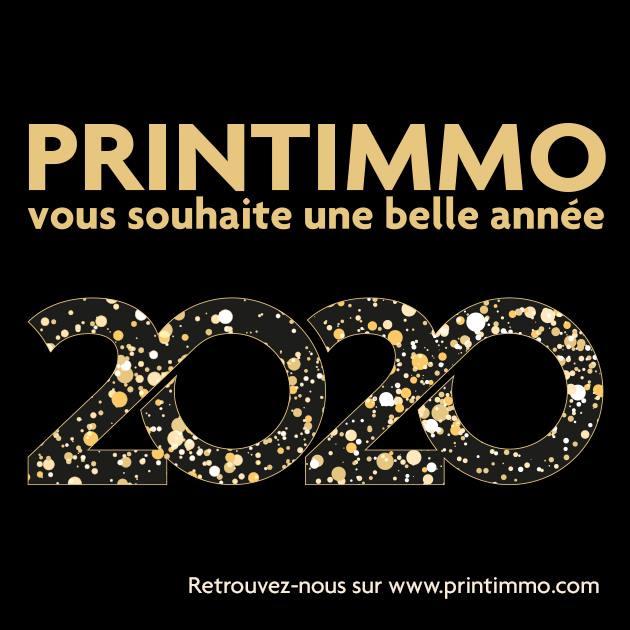 Printimmo vous souhaite une bonne année 2020