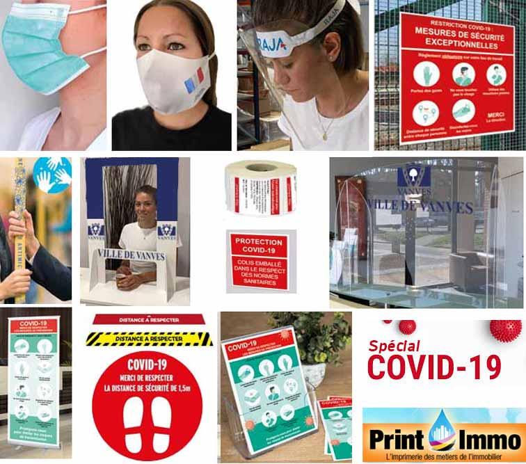 Covid19 - Impression personnalisées pour l'immobilier