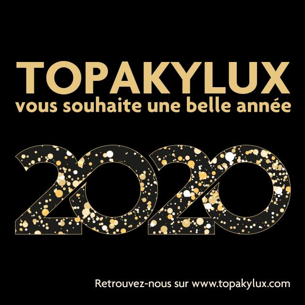 Topakylux vous souhaite une bonne année 2020