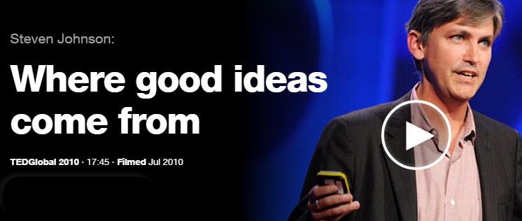 Conferencias TED de Dónde vienen las buenas ideas Steve Johnson