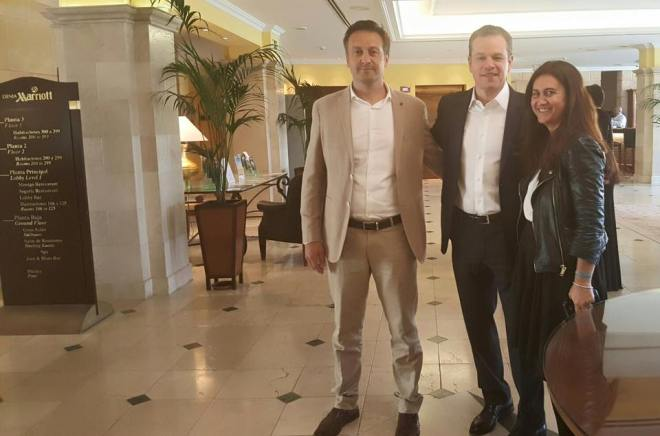 Matt Damon en el Hotel Marriot de Dénia