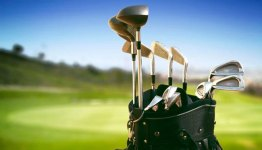 Complete set of golf clubs