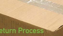 cardboard box saying 3balls return process