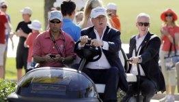 Trump on a Golf Cart