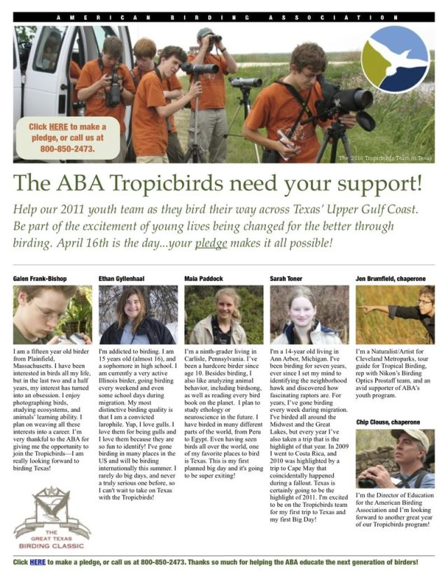 ABA 2011 Tropicbirds pledge