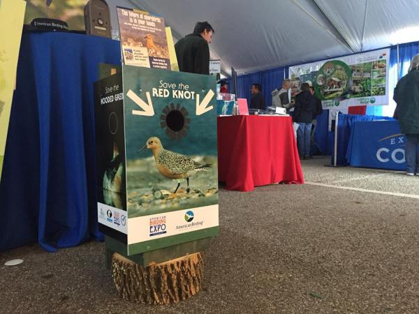 Wood Duck boxes were scattered around the site, encouraging attendees to give to the Expo's conservation goals, photo by Nate Swick