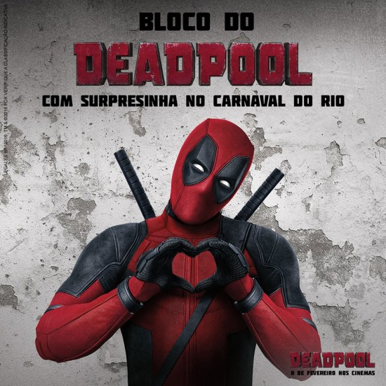 Deadpool - Carnaval Rio de Janeiro