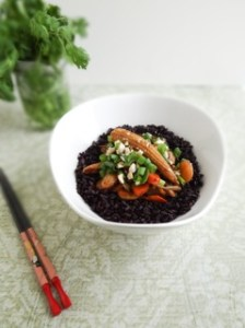 Shanghai Stir Fry with Forbidden Rice, from Sharon's new book, Plant-Powered for Life.