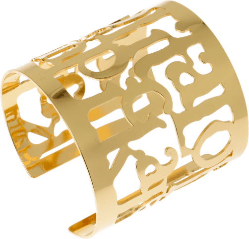 LL gold-plated cuff