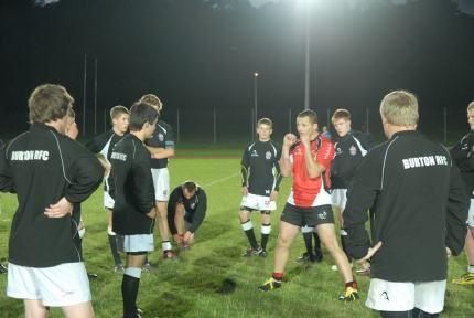 Chris Chudleigh - Coaching Burton RFC Colts
