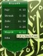 Jadwal Sholat dengan Jam Qiblat