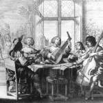 Musical Society. c1635, by Abraham Bosse, French engraver  (b. 1602, Paris, d. 1676, Paris), Copper engraving,  Bibliothèque Nationale, Paris