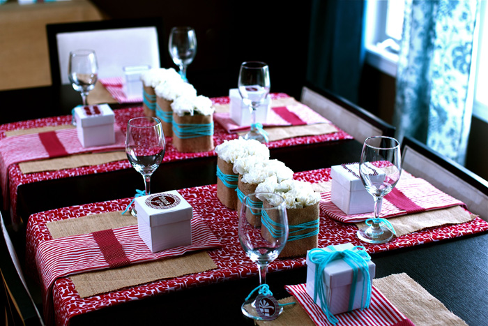 Our Gift Baby Shower Table Setting Sweet Baby Shower Guest Dessert Feature