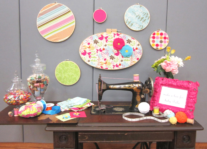 sewing table1 Sew Cute Guest Dessert Feature