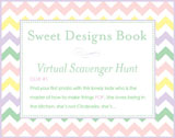 Sweet Designs Virtual Scavenger Hunt: Clue #1