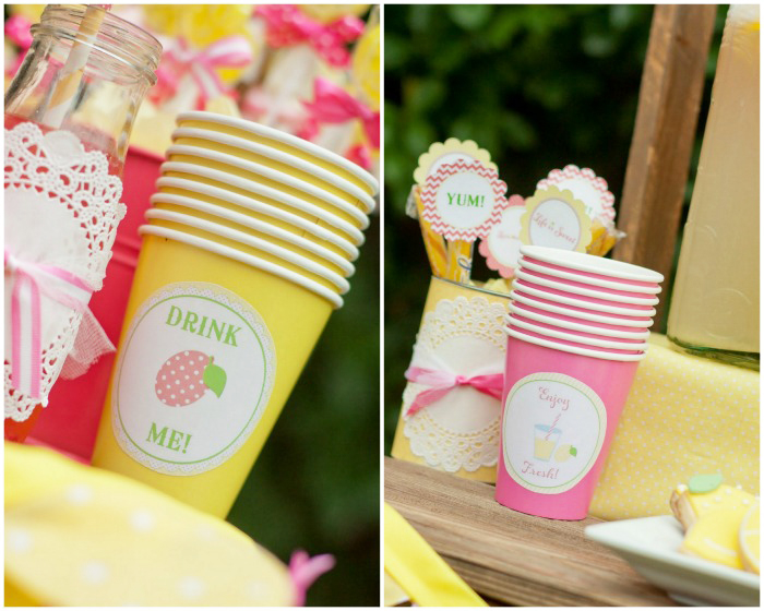 Lemonade Cups Giggles Galore Sweet Lemonade Stand Guest Dessert Feature