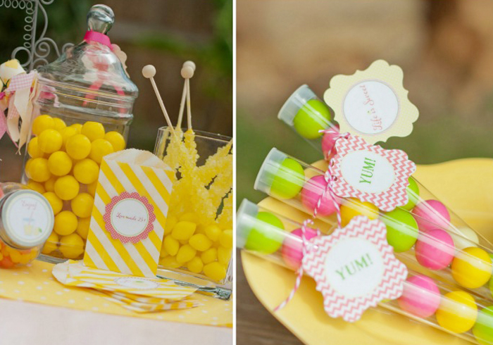 Lemonade Party Favors Giggles Galore Sweet Lemonade Stand Guest Dessert Feature