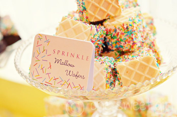 Sprinkle Wafer Cookies
