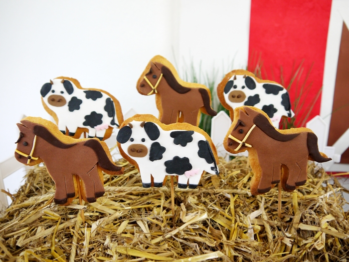 Barnyard Birthday Decorated Cookies Barnyard Birthday Guest Dessert Feature
