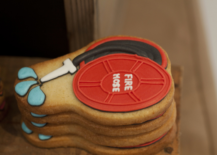 Vintage Firetruck Inspired Dessert Table Boys Parties  firehose cookies